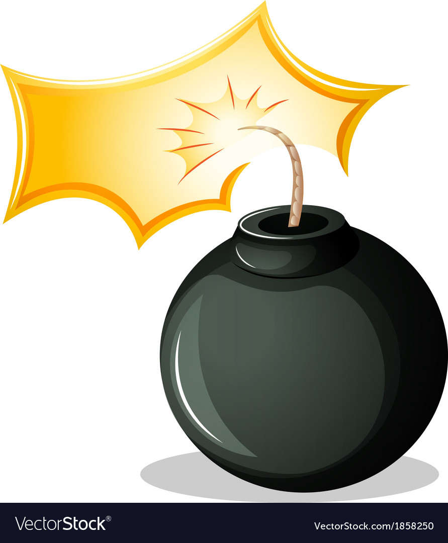 A round explosive bomb vector | Price: 1 Credit (USD $1)
