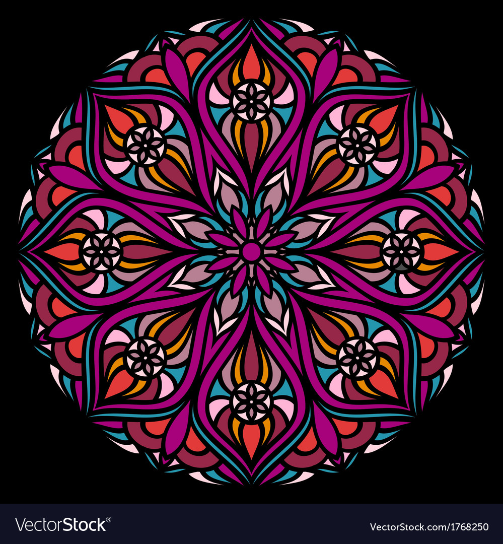 Colorful ornamental round lace vector   Price: 1 Credit (USD $1)