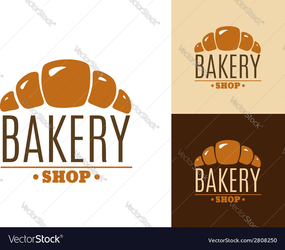 Croissant bakery emblem or logo vector | Price: 1 Credit (USD $1)
