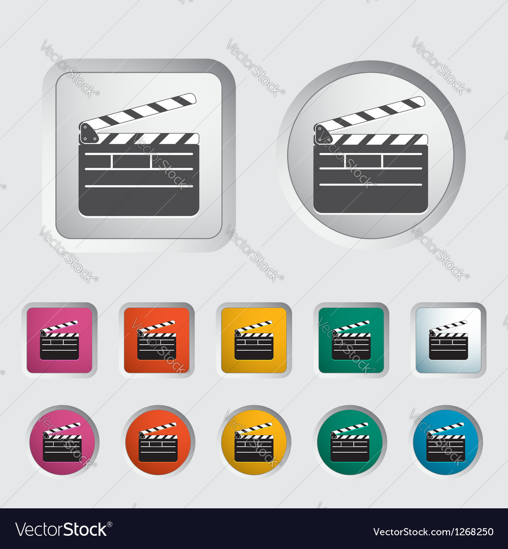 Director clapperboard vector | Price: 1 Credit (USD $1)
