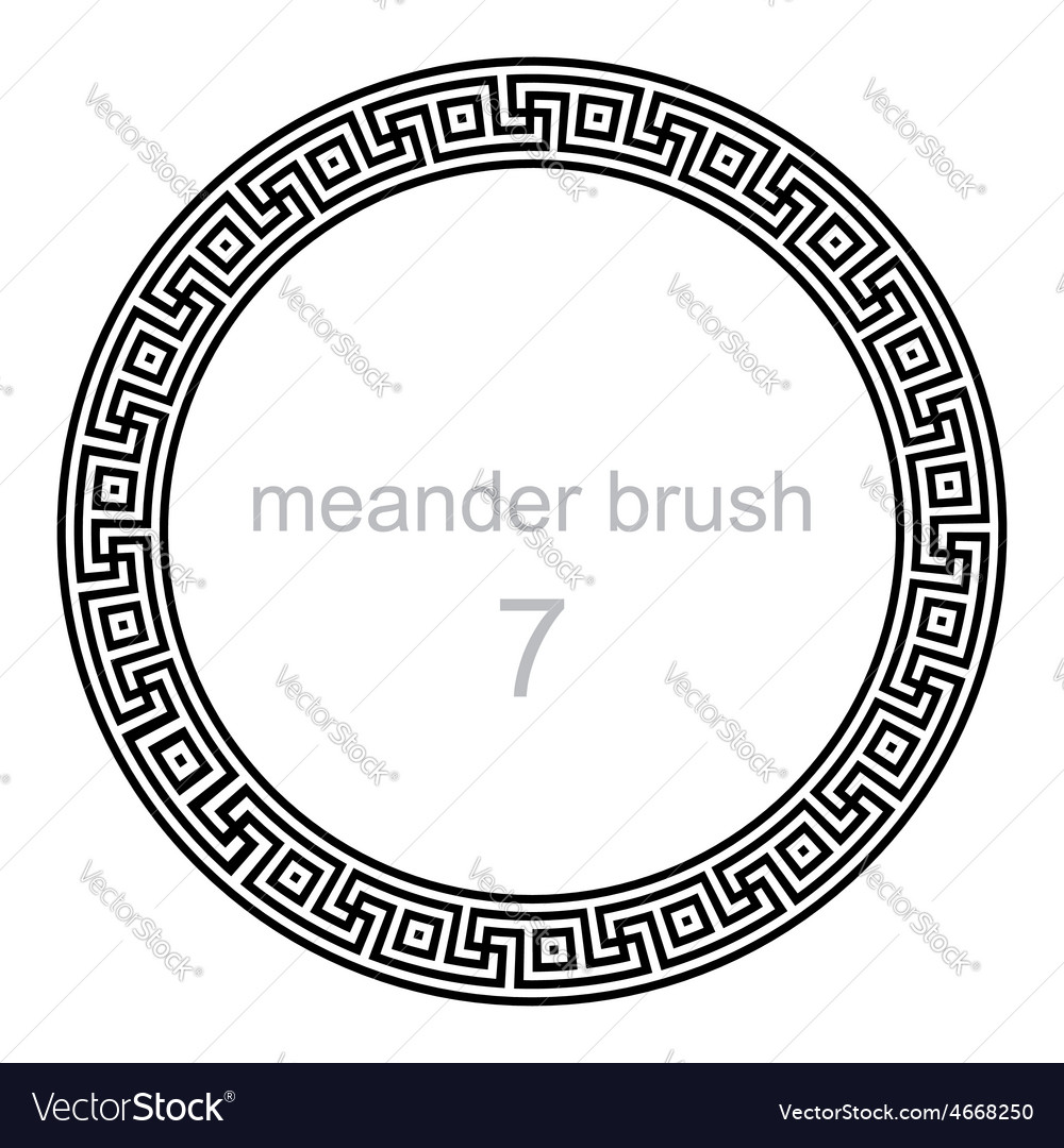 Frame round ornament meander vector | Price: 1 Credit (USD $1)