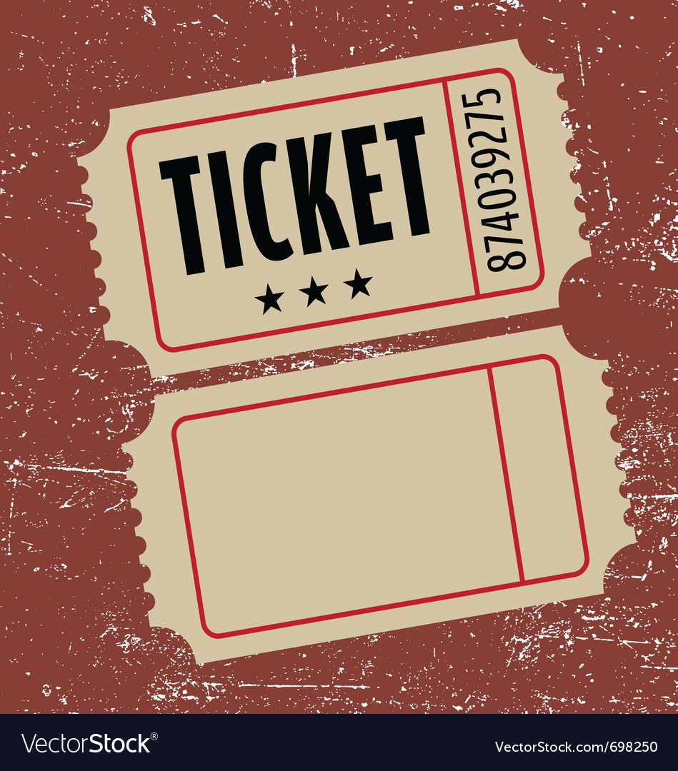 Grunge ticket vector | Price: 1 Credit (USD $1)