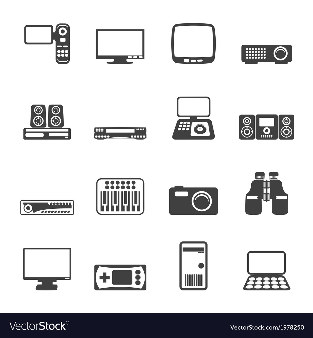 Hi-tech equipment icons vector | Price: 1 Credit (USD $1)