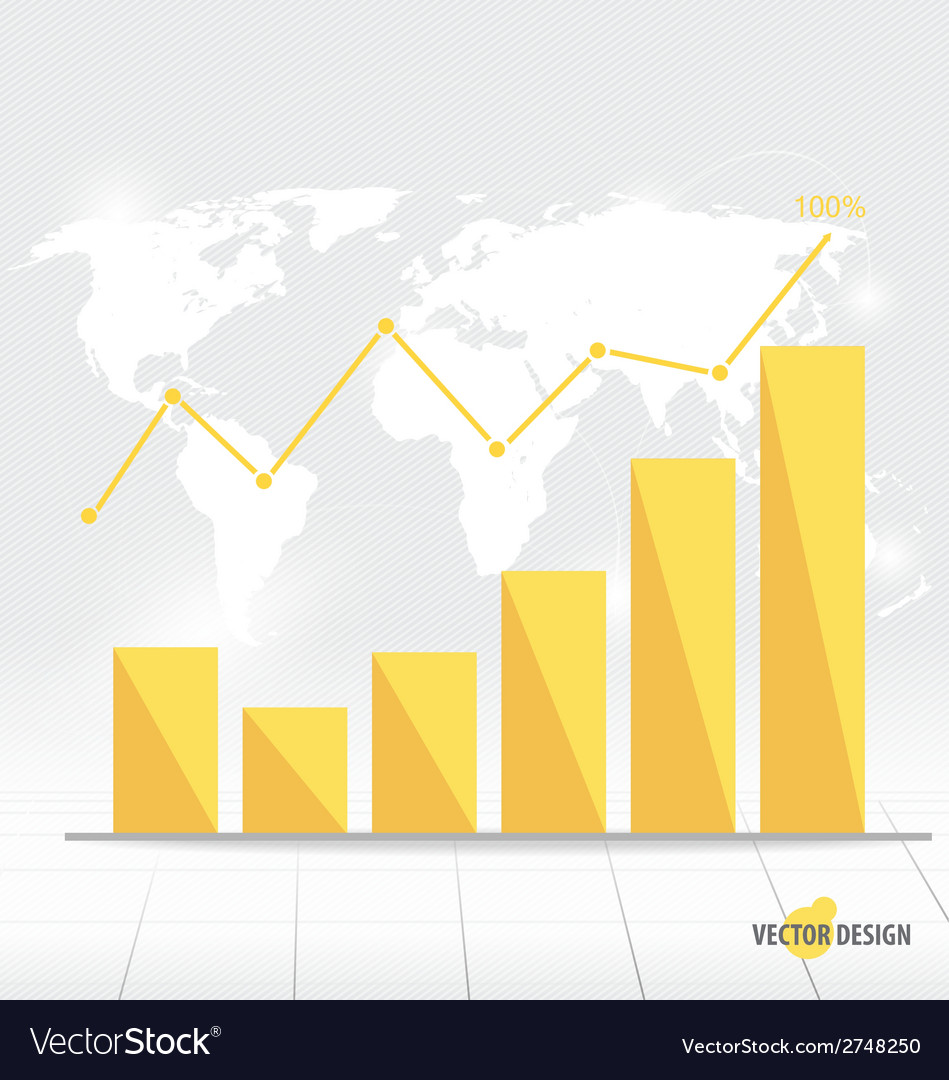 Modern design graph business graph to success can vector | Price: 1 Credit (USD $1)