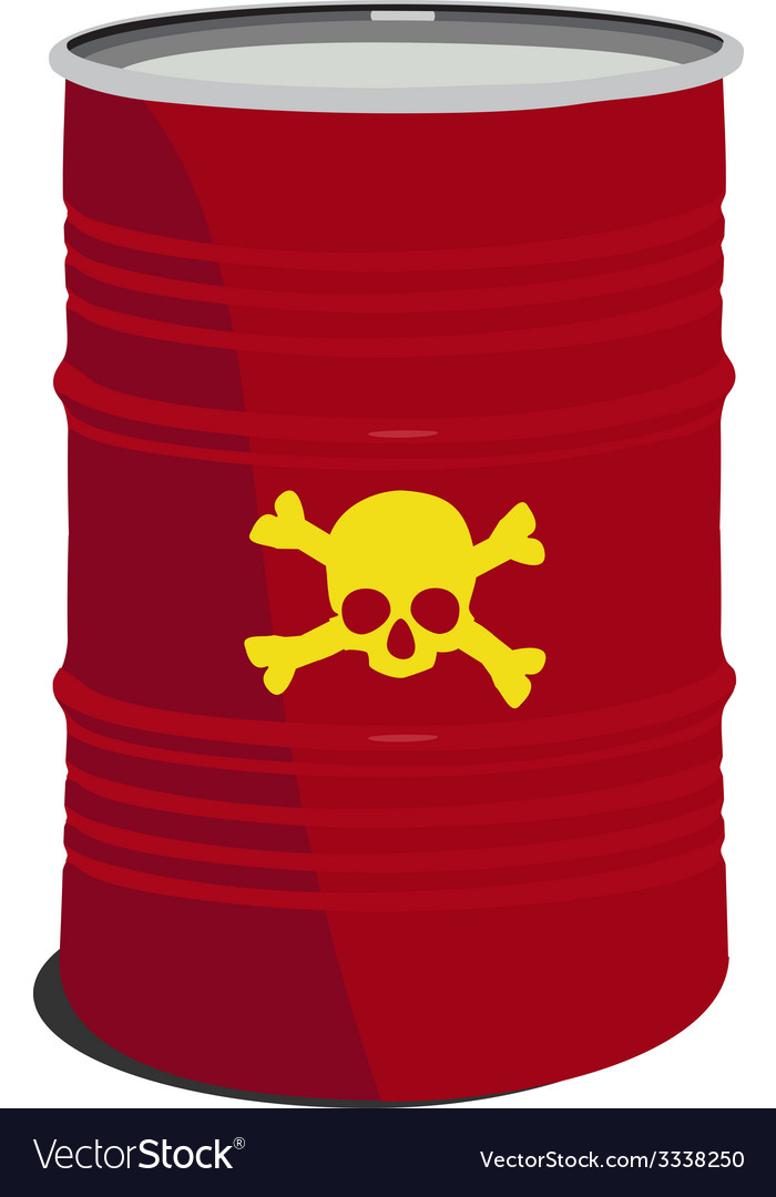 Red barrel toxic vector | Price: 1 Credit (USD $1)