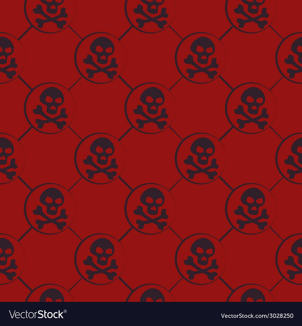 Red skull pattern vector | Price: 1 Credit (USD $1)