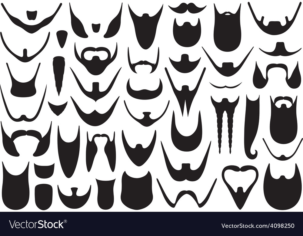 Set of different beards vector | Price: 1 Credit (USD $1)