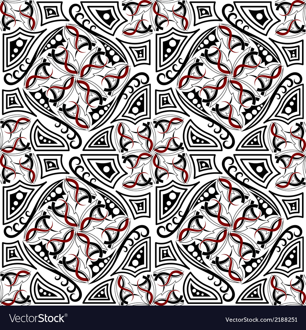 Abstract seamless texture with gothic elements vector | Price: 1 Credit (USD $1)