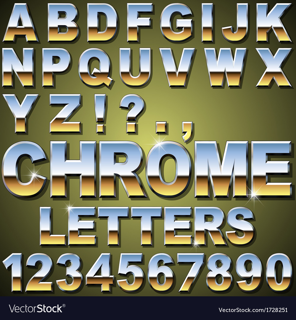 Chrome letters vector | Price: 1 Credit (USD $1)