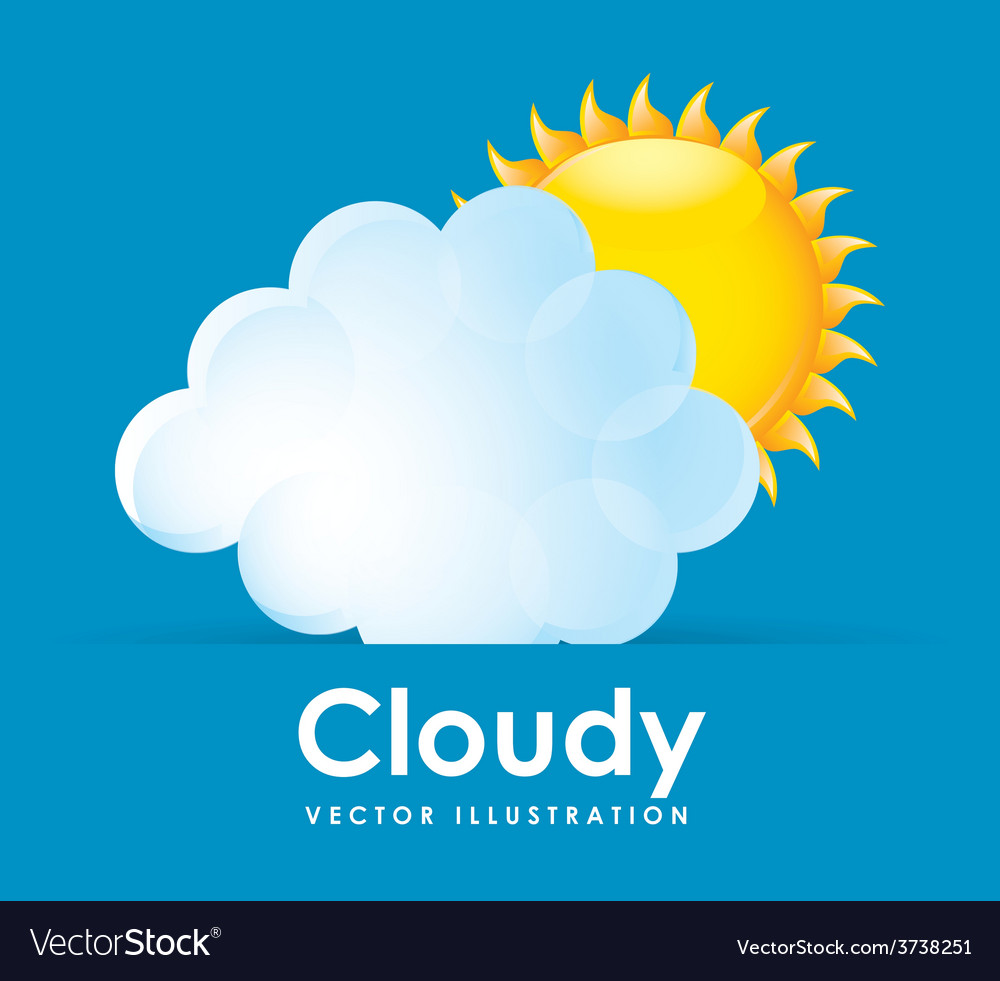 Cloudy design vector | Price: 1 Credit (USD $1)