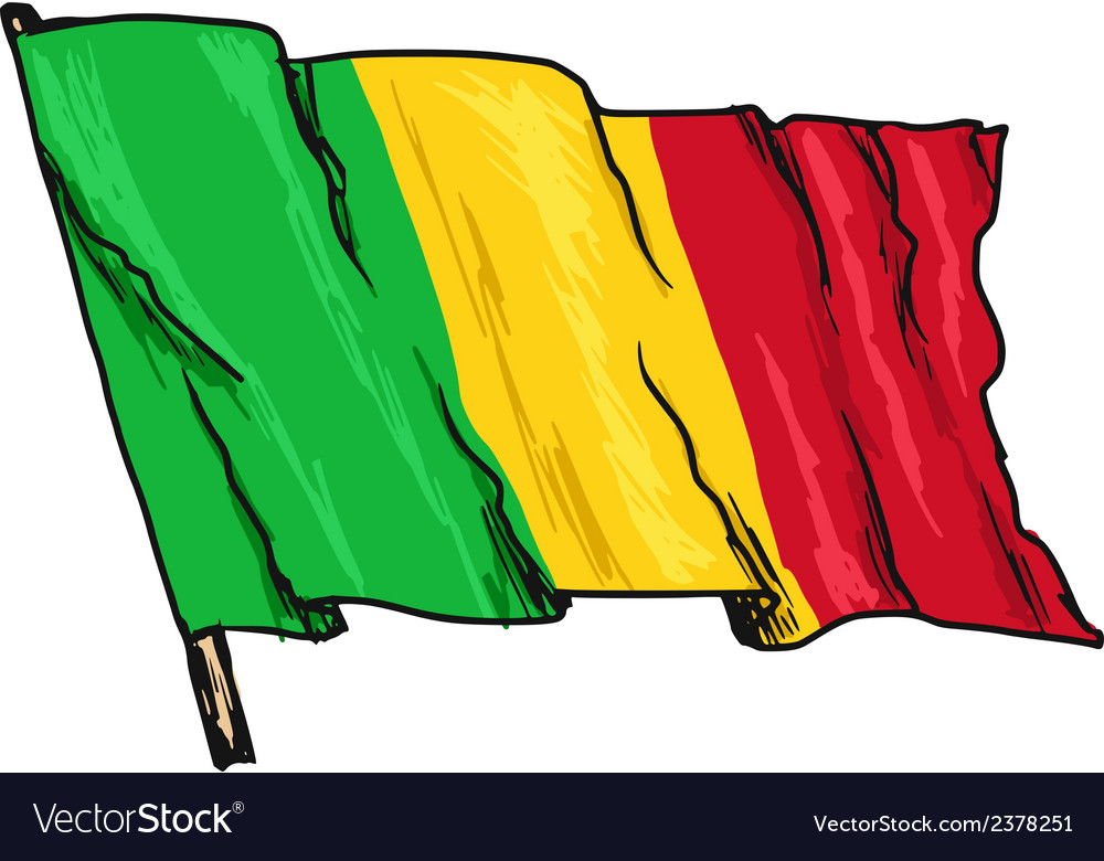 Flag of mali vector | Price: 3 Credit (USD $3)