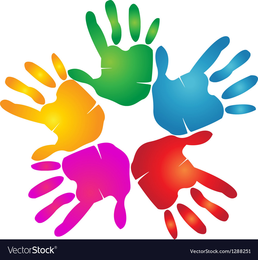 Hands teamwork logo vector | Price: 1 Credit (USD $1)