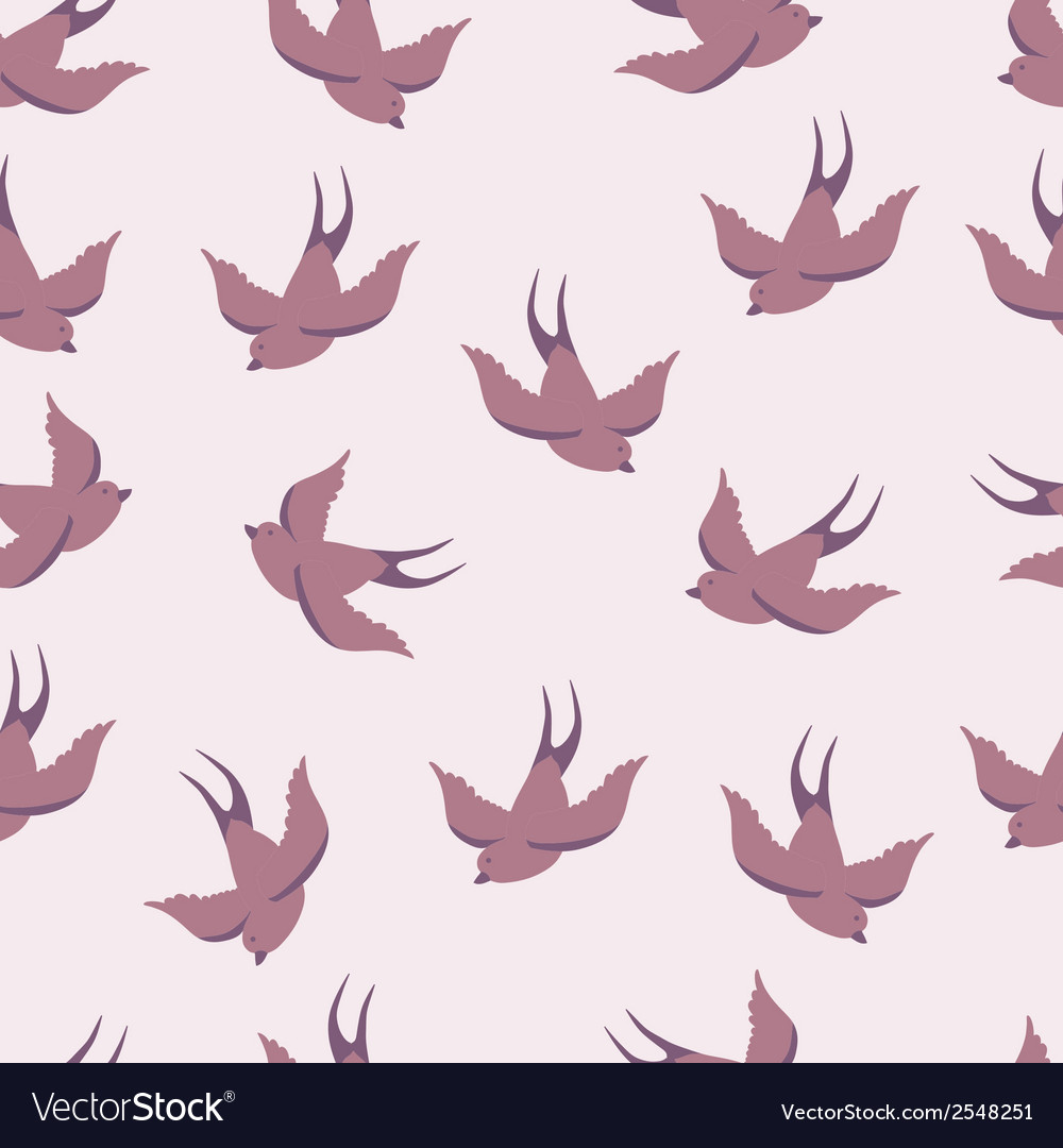 Seamless pattern with swallows vector   Price: 1 Credit (USD $1)