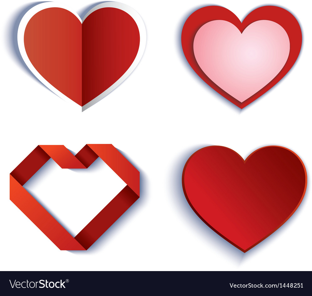 Set of symbol heart vector | Price: 1 Credit (USD $1)