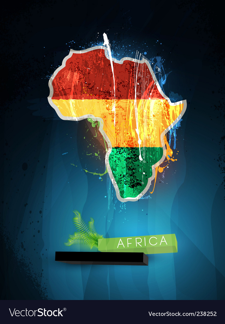 Africa poster vector | Price: 1 Credit (USD $1)