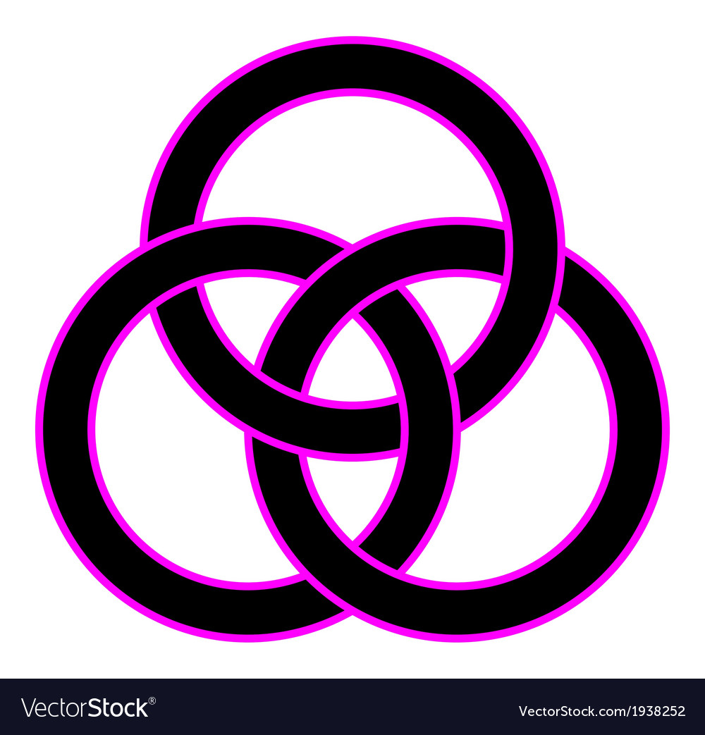 Borromean rings vector | Price: 1 Credit (USD $1)