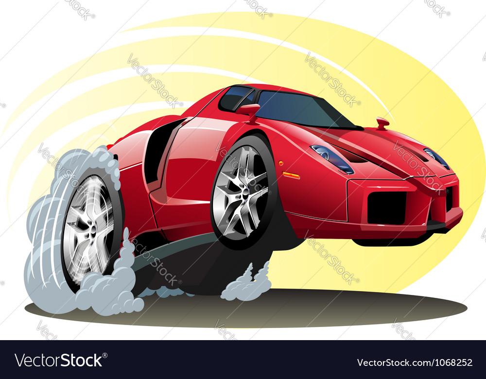 Cartoon sportcar vector | Price: 3 Credit (USD $3)