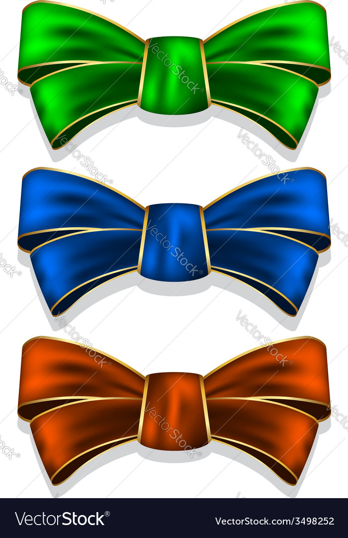 Collection bows vector | Price: 1 Credit (USD $1)