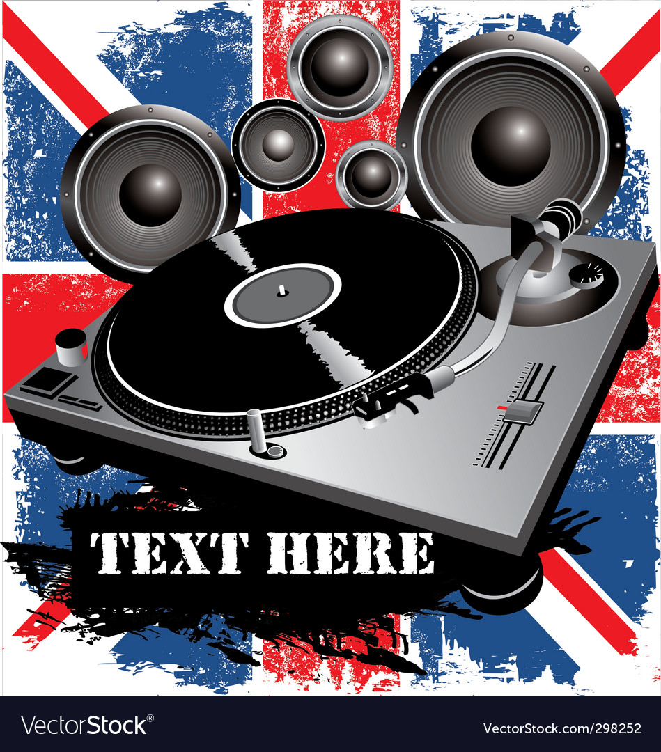 Dj party uk vector | Price: 1 Credit (USD $1)