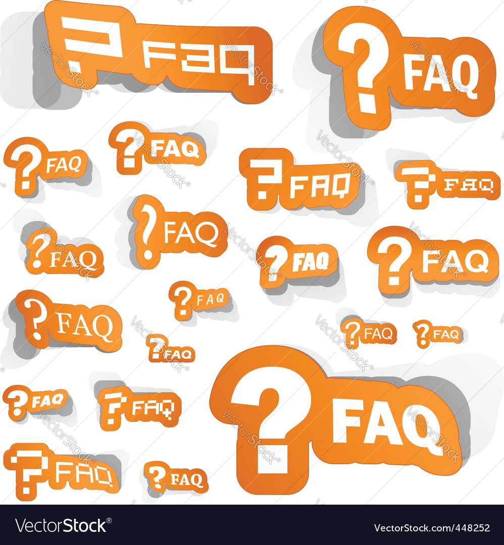 Faq vector | Price: 1 Credit (USD $1)