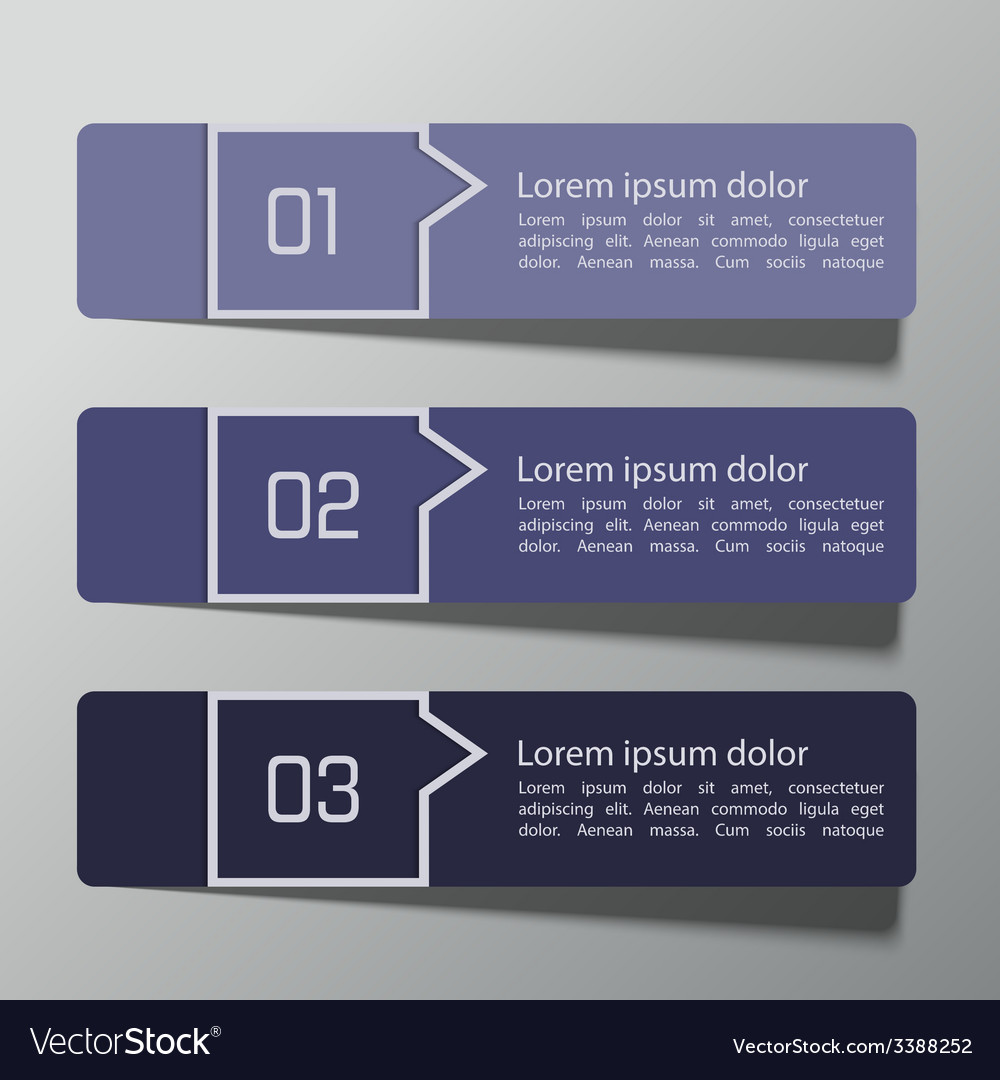 Modern design template from paper and pointers vector | Price: 1 Credit (USD $1)