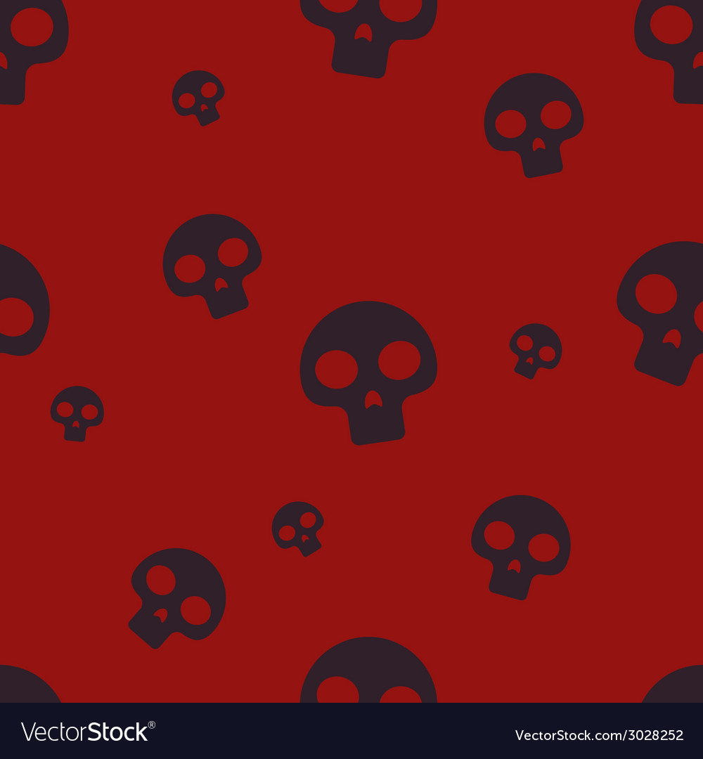 Red small skull pattern vector | Price: 1 Credit (USD $1)