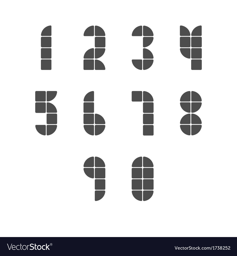 Simple tiled numbers vector | Price: 1 Credit (USD $1)