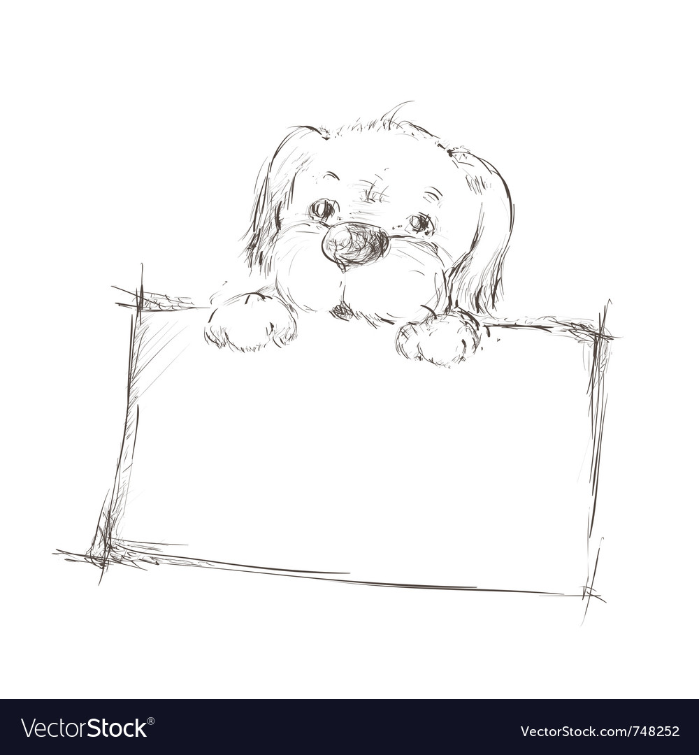 Sketch of a dog vector | Price: 1 Credit (USD $1)