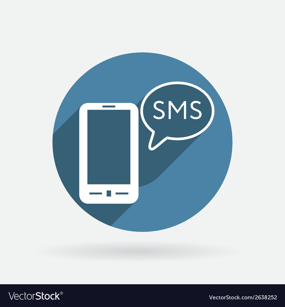 Smartphone with cloud of sms dialogue vector | Price: 1 Credit (USD $1)