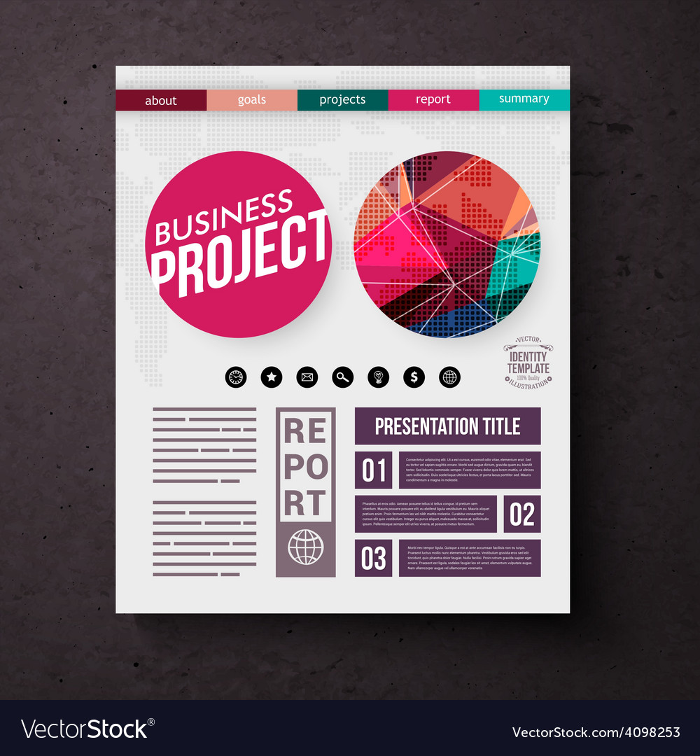 Business project title page template vector | Price: 1 Credit (USD $1)