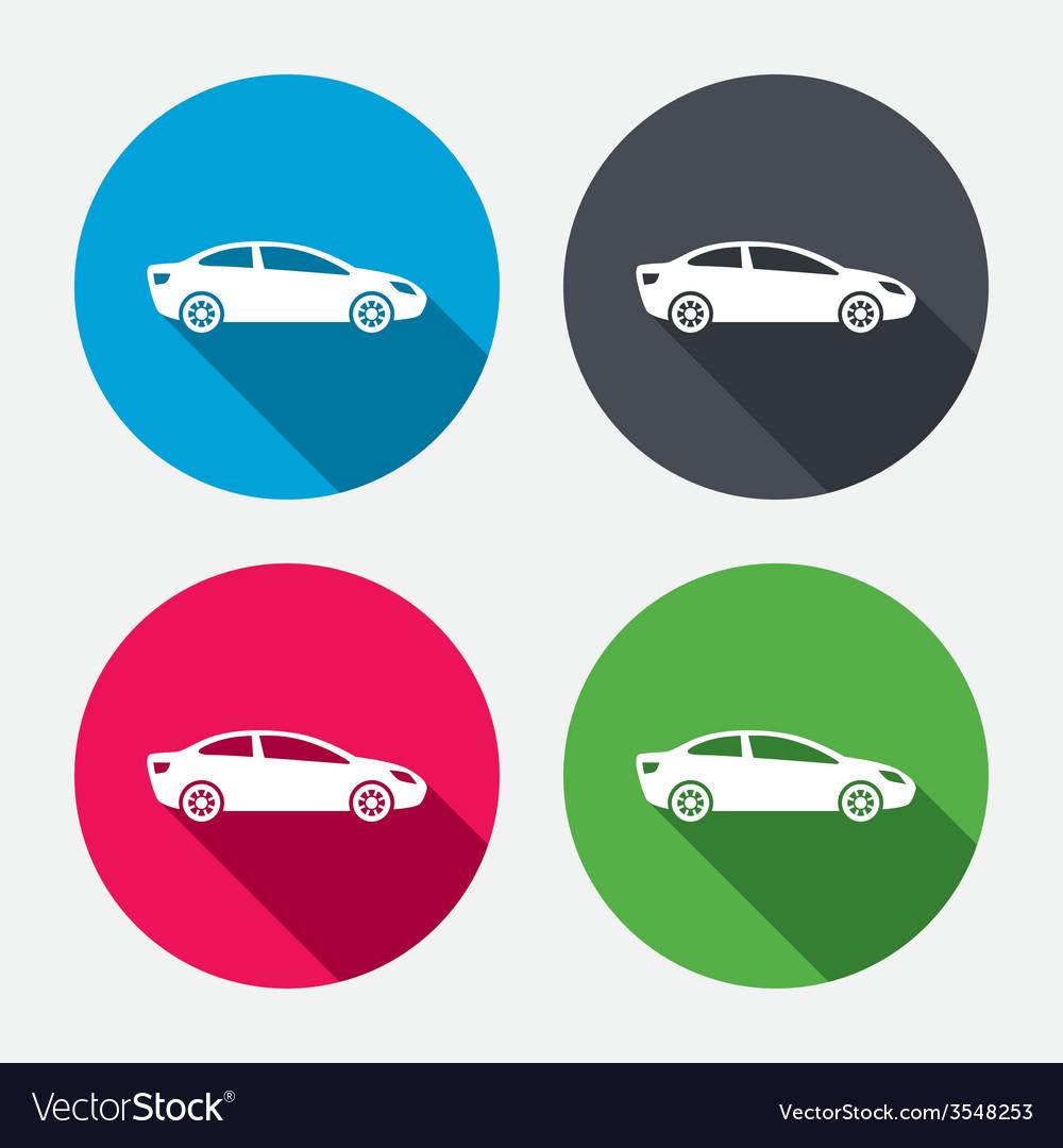 Car sign icon sedan saloon symbol vector   Price: 1 Credit (USD $1)