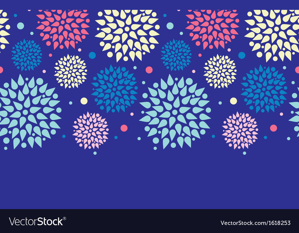 Colorful bursts horizontal seamless pattern vector | Price: 1 Credit (USD $1)
