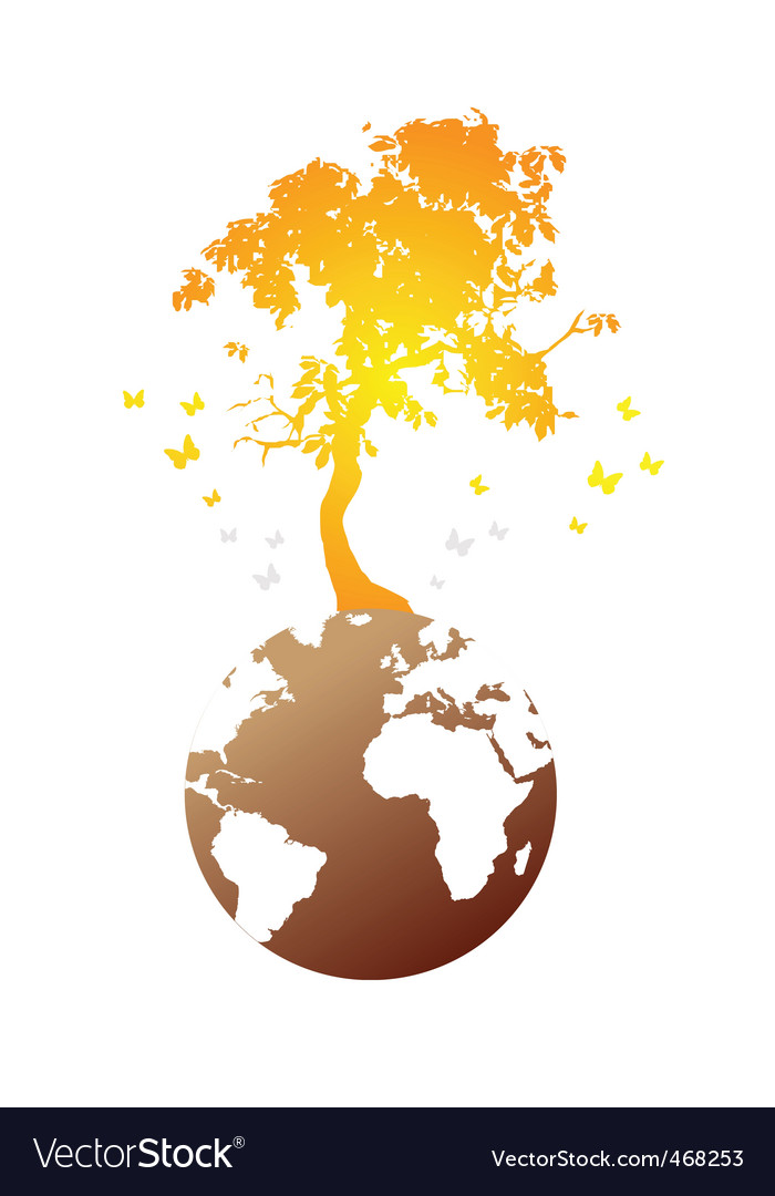 Earth tree vector | Price: 1 Credit (USD $1)
