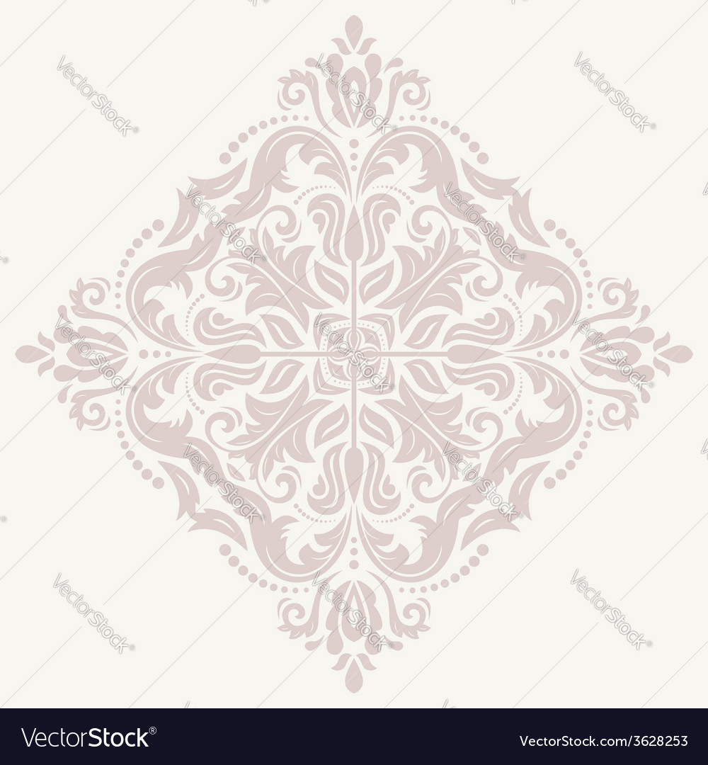 Floral pattern orient abstract pink ornament vector   Price: 1 Credit (USD $1)