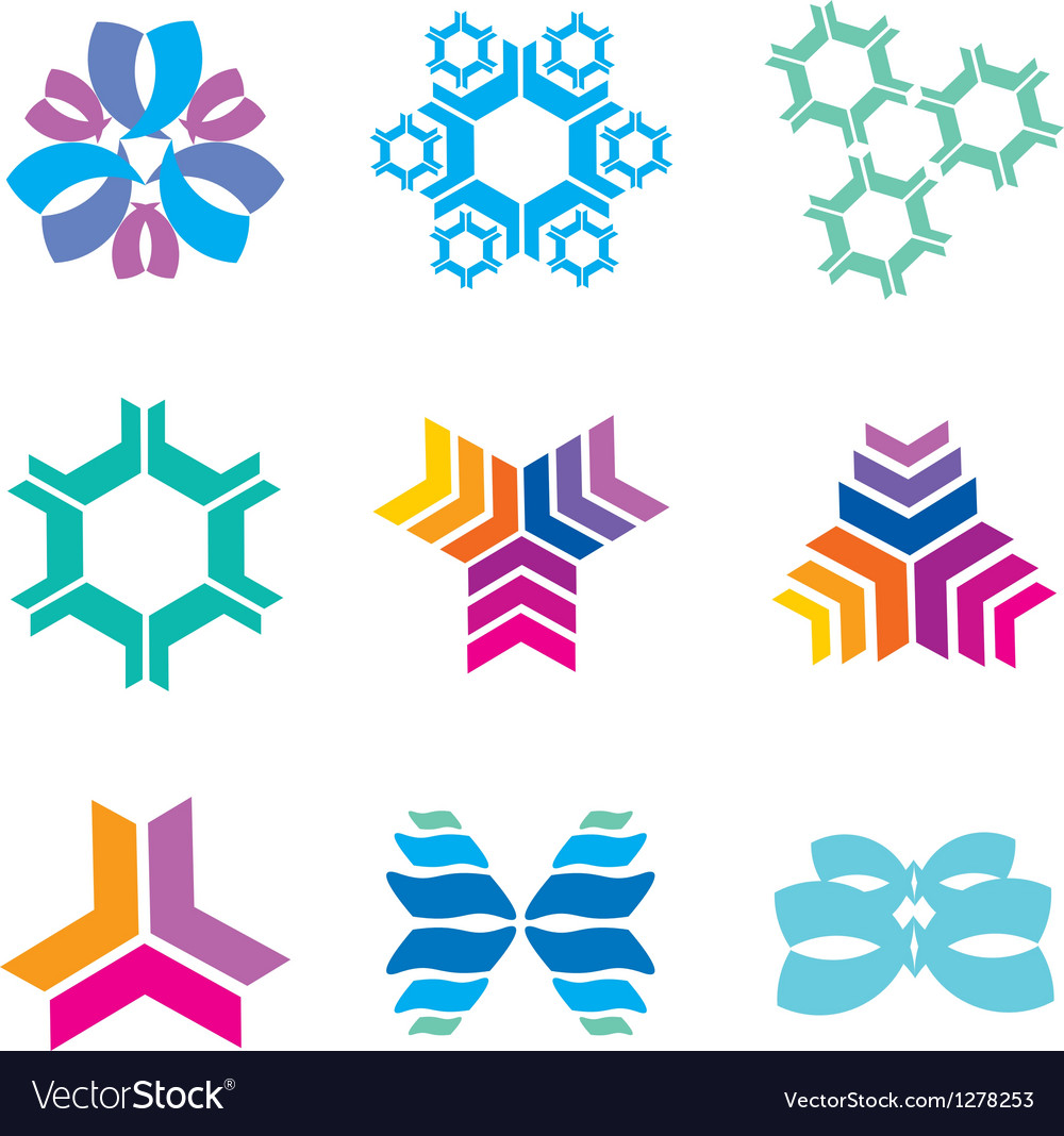 Nanotechnology icons vector | Price: 1 Credit (USD $1)