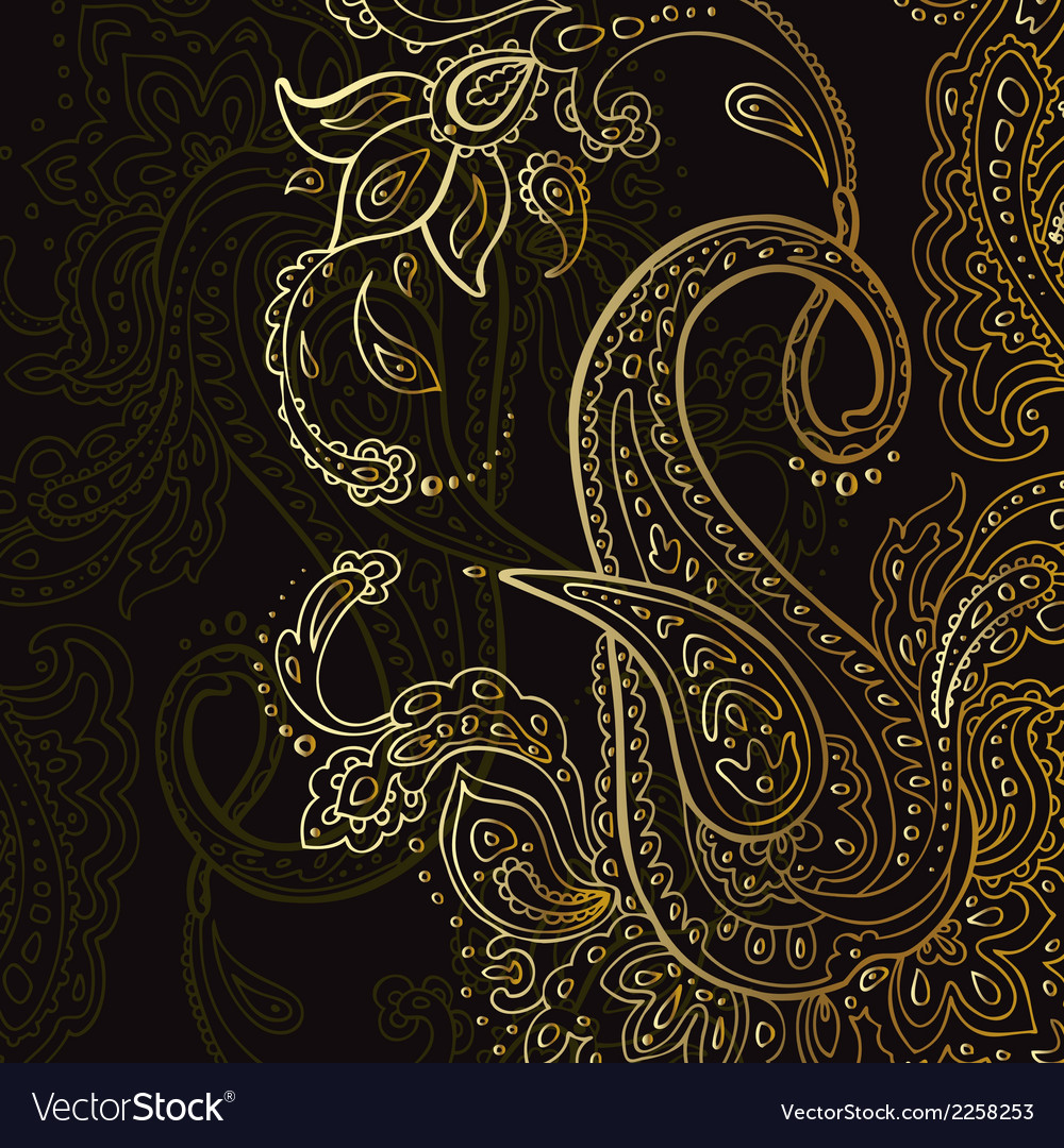 Paisley background hand drawn ornament vector | Price: 1 Credit (USD $1)