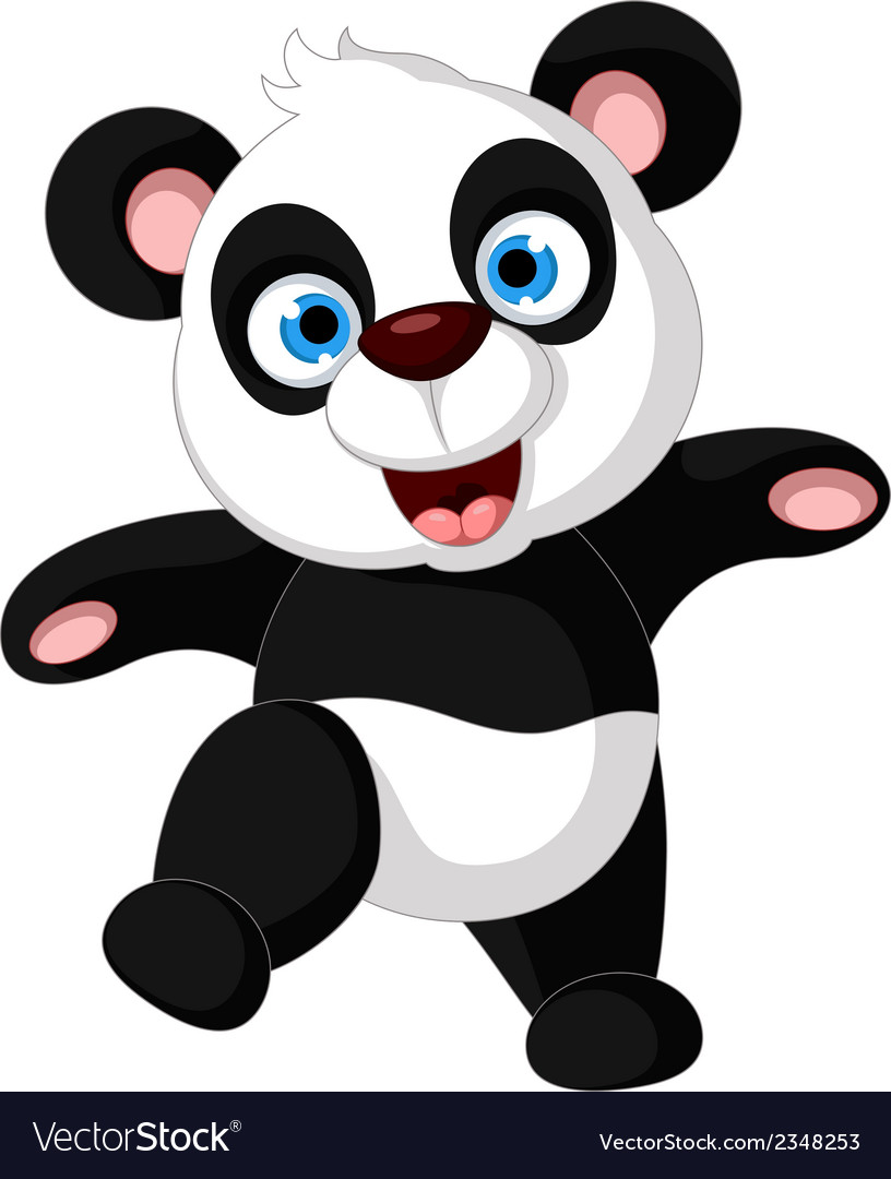 Panda cartoon dancing vector | Price: 1 Credit (USD $1)