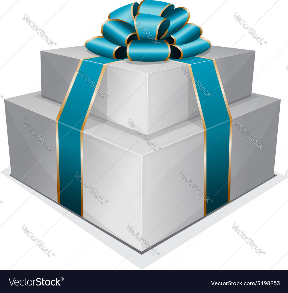 Pile gift box with bow vector | Price: 1 Credit (USD $1)
