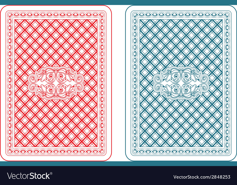 Playing cards back zeta vector | Price: 1 Credit (USD $1)
