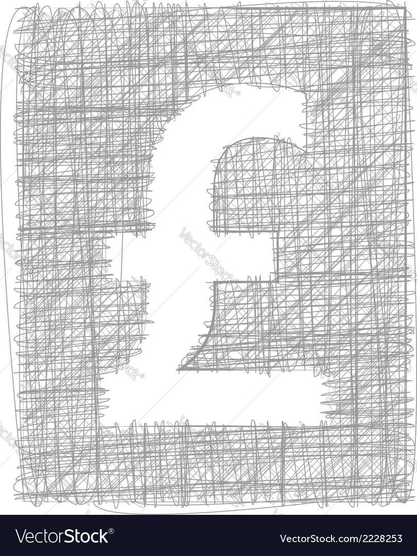Pound sign - freehand symbol vector | Price: 1 Credit (USD $1)