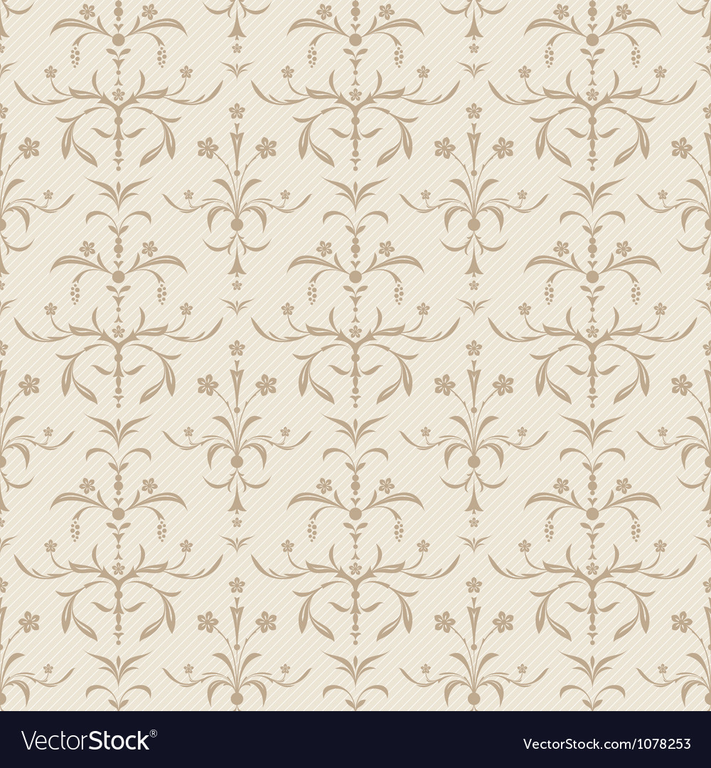 Seamless beige flowers texture vector | Price: 1 Credit (USD $1)