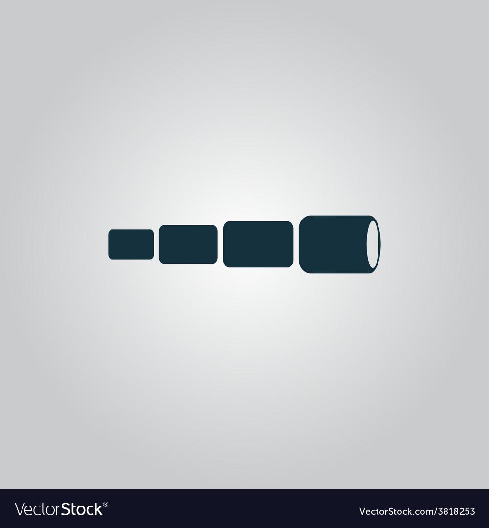 Spyglass icon vector | Price: 1 Credit (USD $1)