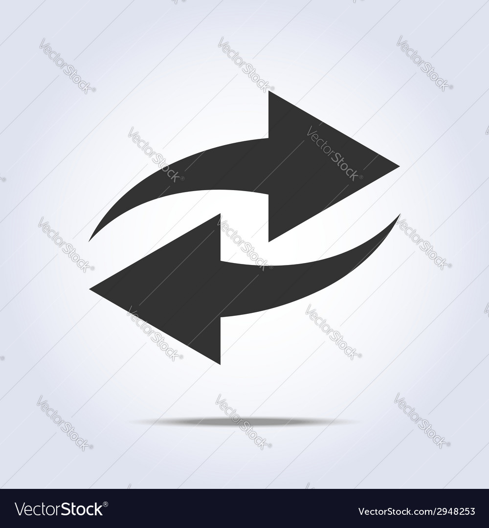 Two arrows in gray colors vector | Price: 1 Credit (USD $1)