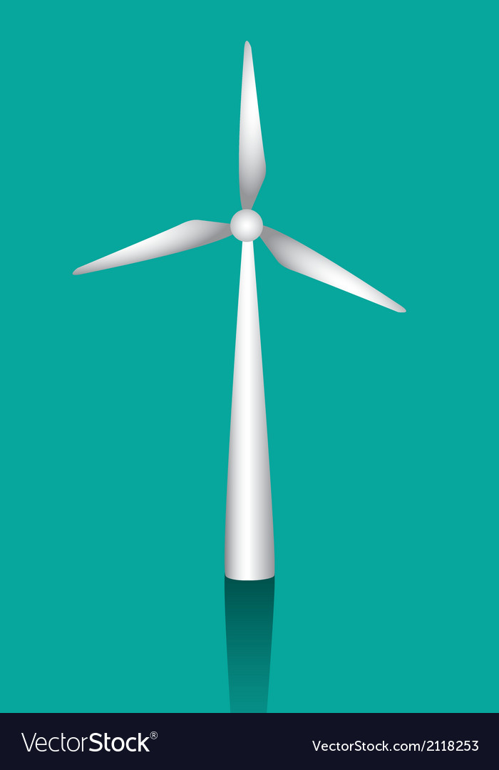 White windmills to generate energy vector | Price: 1 Credit (USD $1)