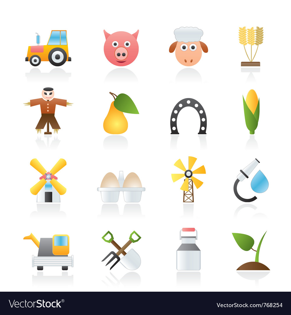 Agriculture and farming icons vector | Price: 3 Credit (USD $3)