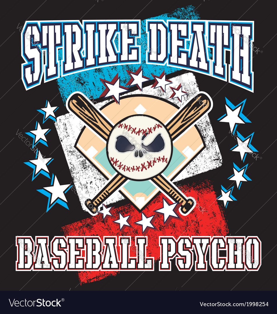Baseball psycho vector | Price: 1 Credit (USD $1)