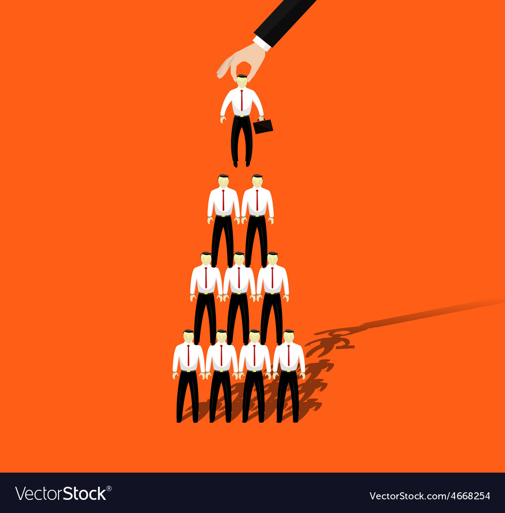Businessmen promotion to higher position vector | Price: 1 Credit (USD $1)