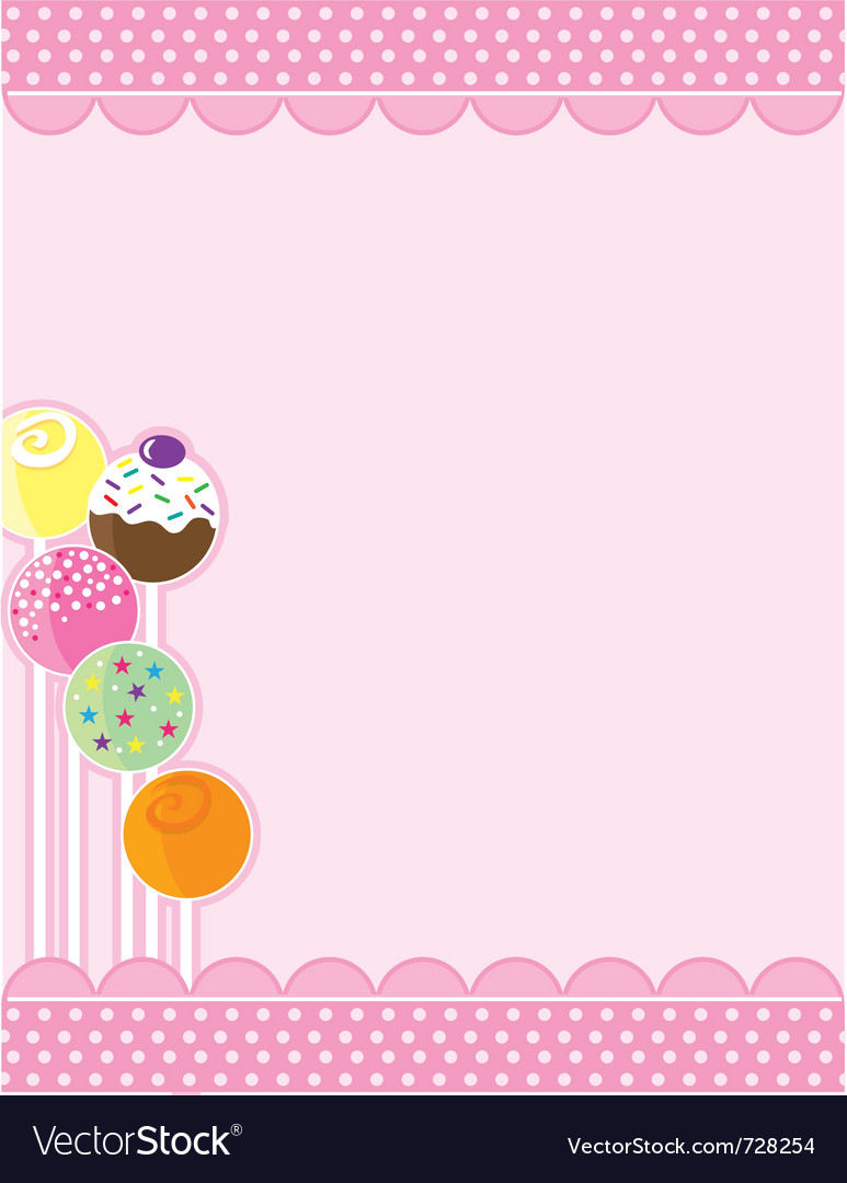 Cake pops vector | Price: 1 Credit (USD $1)