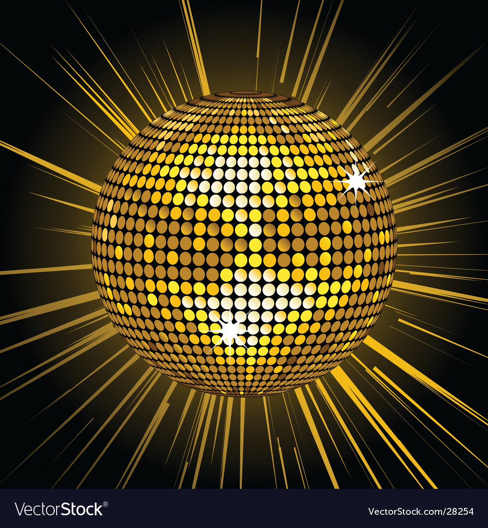 Gold mirror ball vector | Price: 1 Credit (USD $1)