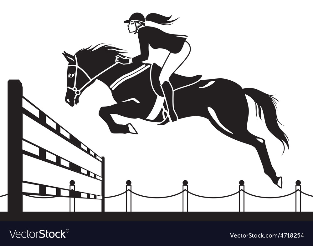 Jockey ride horse vector | Price: 1 Credit (USD $1)
